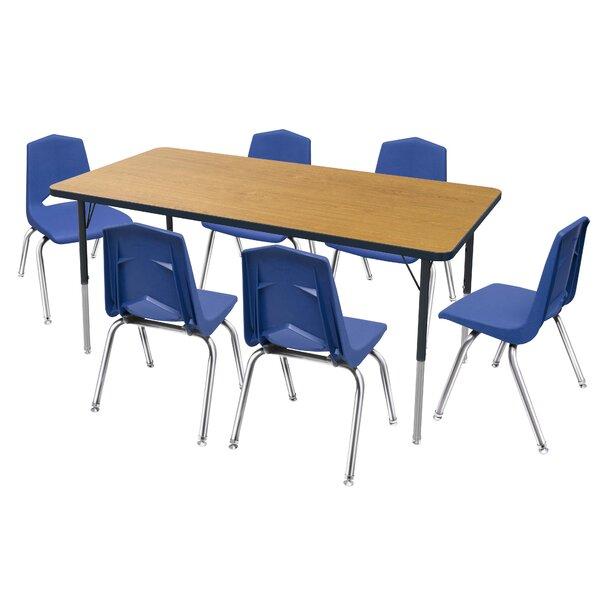 7 Piece Rectangular Activity Table and Chair Set & 16 Chair Set by Marco Group Inc.
