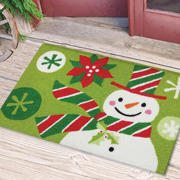 Dex Snowman with Striped Hat and Scarf Mat