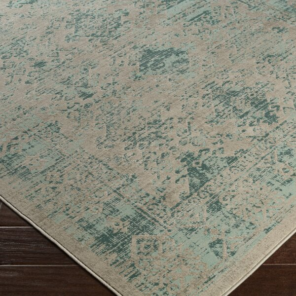 Anil Green / Brown Area Rug by Bungalow Rose