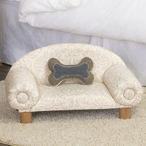 Carrie Decorative Dog Sofa with Curved Back by Tucker Murphy Pet