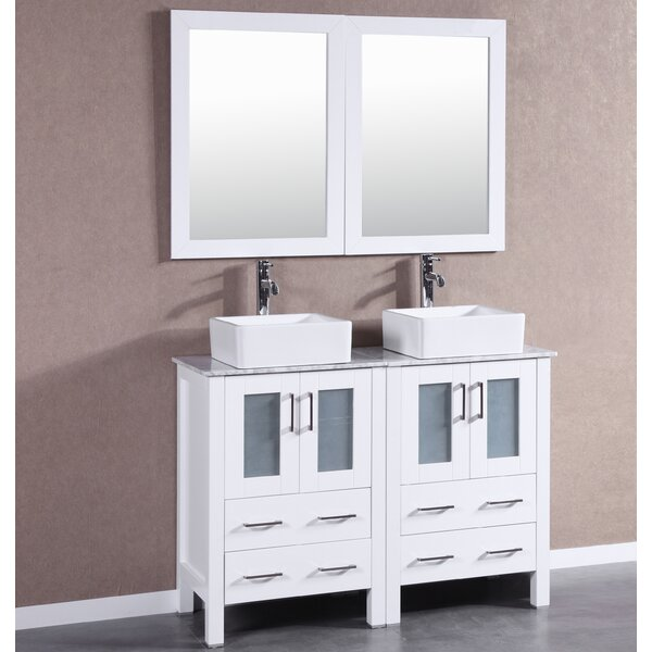 Dunellen 47 Double Bathroom Vanity Set with Mirror by Bosconi