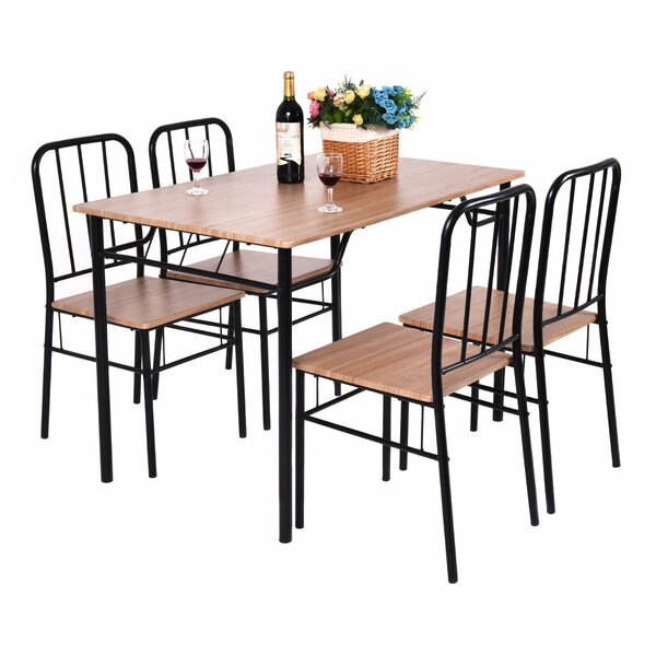 Conover 5 Piece Dining Set by Ebern Designs