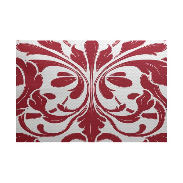 Rhymer Red Indoor/Outdoor Area Rug by Charlton Home