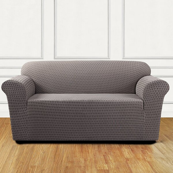Sonya Box Cushion Loveseat Slipcover By Sure Fit