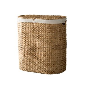 Oval Double Wicker Laundry Hamper