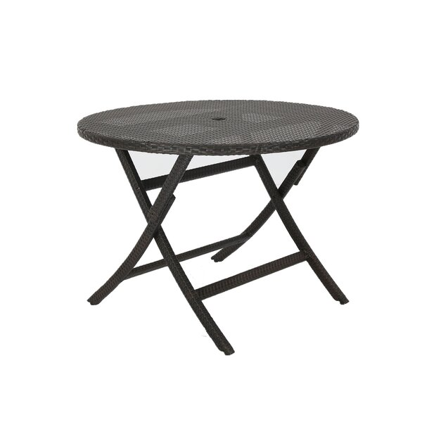 Karn Extendable Wicker Bistro Table by Winston Porter