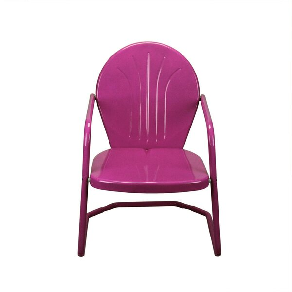 Johnie Retro Outdoor Metal Chair by Ivy Bronx