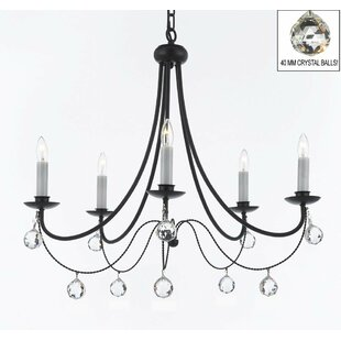 Plug in chain swag lights wayfair clemence 5 light candle style chandelier with chain and wire aloadofball