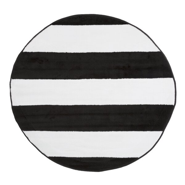 Josh Stripe Black/White Area Rug by Zipcode Design