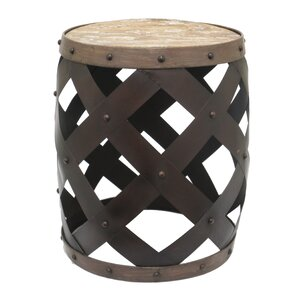Metal and Wood End Table b..