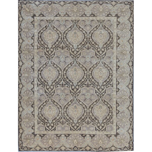 Ziegler Oriental Hand-Knotted Wool Brown Area Rug