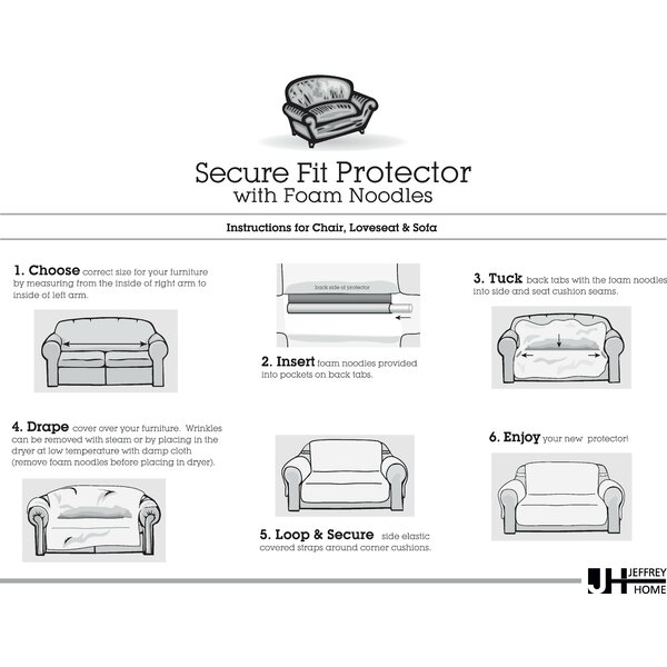 Belmont Leaf Secure Fit Sofa Furniture Slipcover by Innovative Textile Solutions