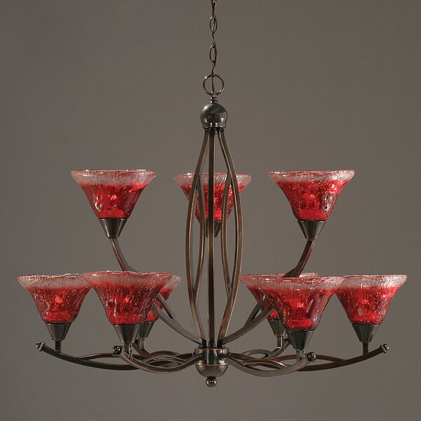 Blankenship 9 - Light Shaded Tiered Chandelier By Fleur De Lis Living