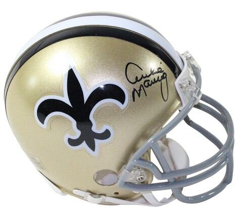 Decorative Archie Manning Signed Throwback Mini Helmet by Steiner Sports