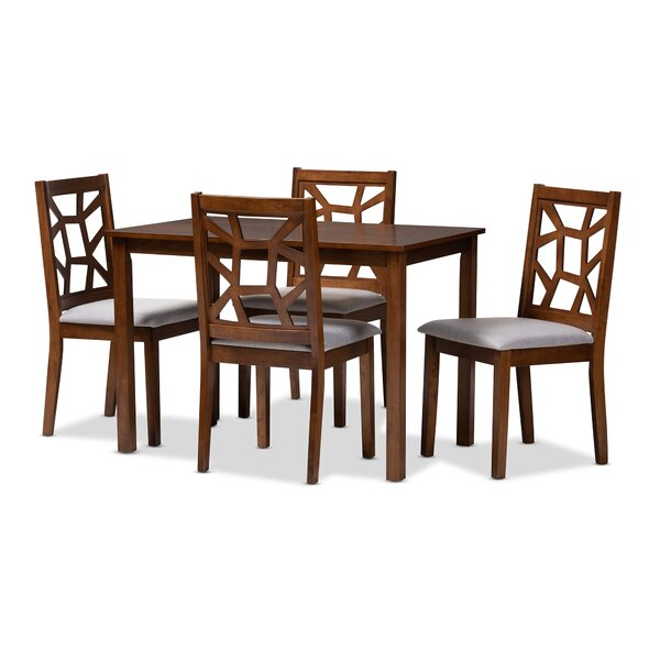 Halewood 5 Piece Dining Set by Ebern Designs Ebern Designs