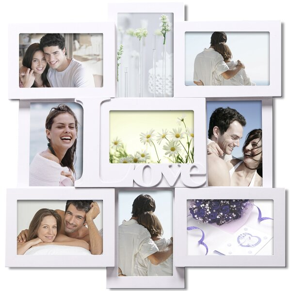 9 Opening Decorative Love Wall Hanging Collage Picture Frame by Adeco Trading