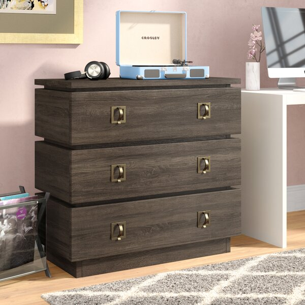 Andreas 3 Drawer Media Chest by Langley Street