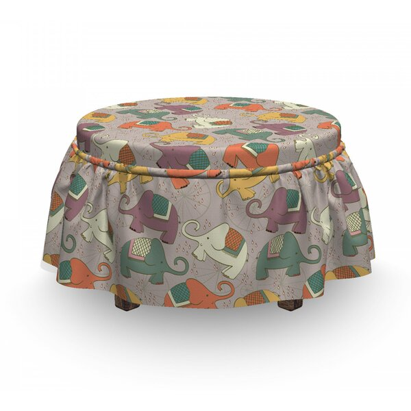 Animals On Wheels Ottoman Slipcover (Set Of 2) By East Urban Home