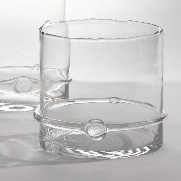 Intaglio Glass Hurricane by Studio A Home