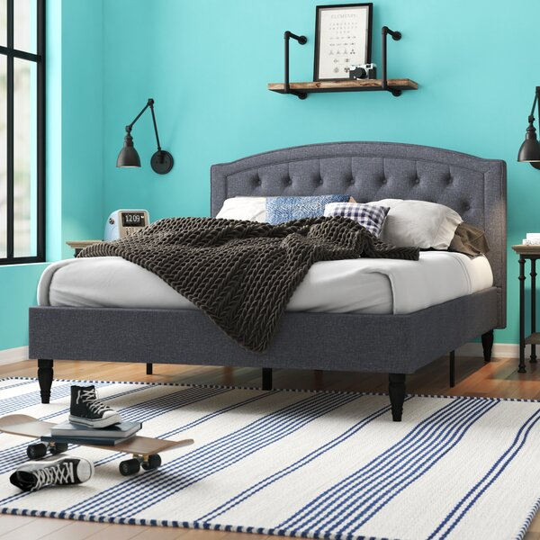Kegler Upholstered Platform Bed by Three Posts Teen
