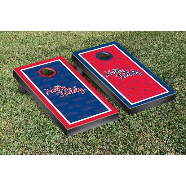 NCAA Mississippi Ole Miss Rebels Hotty Toddy Version Cornhole Game Set by Victory Tailgate
