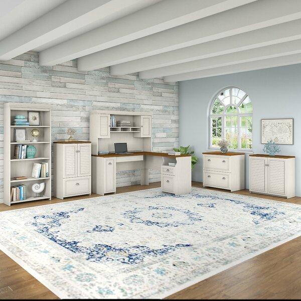 Oakridge 6 Piece L-shaped Desk Office Suite by Beachcrest Home