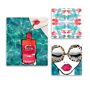 'Water Coveted World' 3 Piece Graphic Art Print Set on Canvas by Oliver Gal