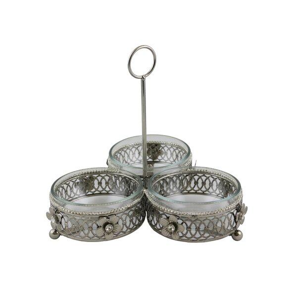 3 Dip Dish Crystal Decorative Bowl by Rosdorf Park