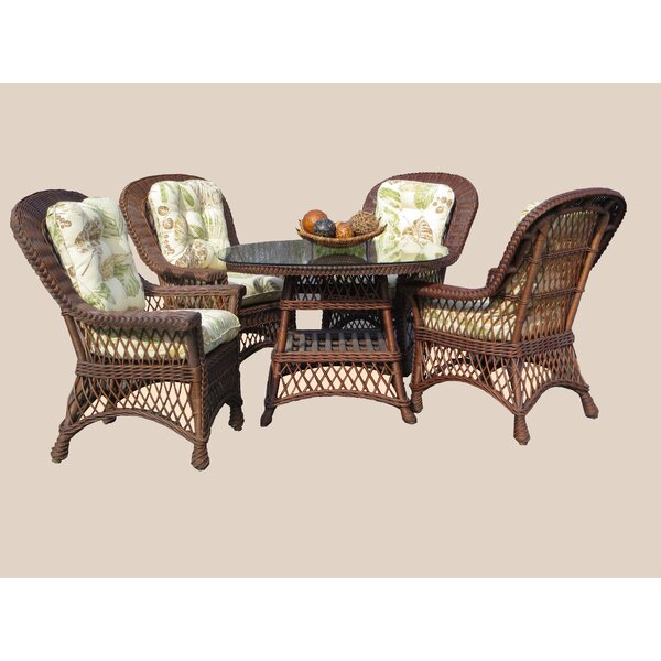 Rosado 5 Piece Dining Set with Cushions (Set of 6) by Bay Isle Home