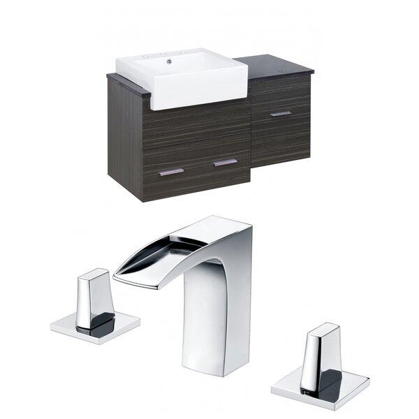 Hindman 37 Wall-Mounted Single Bathroom Vanity Set by Royal Purple Bath KitchenHindman 37 Wall-Mounted Single Bathroom Vanity Set by Royal Purple Bath Kitchen