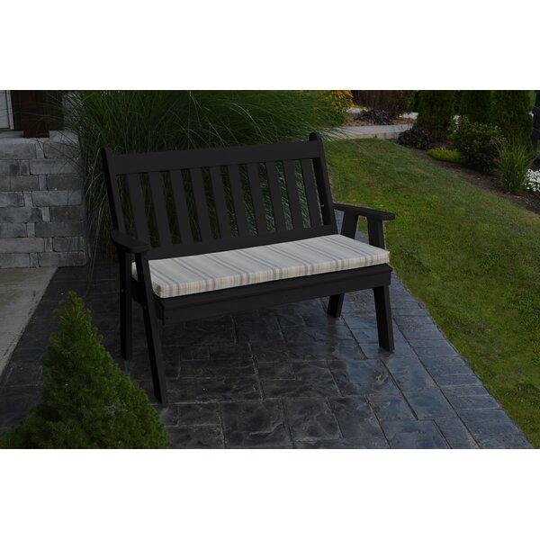 Spero Traditional English Plastic Garden Bench by Red Barrel Studio