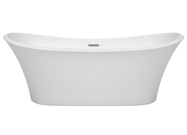 Bolera 71 x 31.5 Freestanding Soaking Bathtub by Wyndham Collection