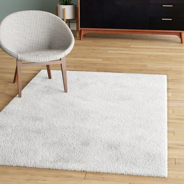 Catharine Hand-Woven White Area Rug by Zipcode Design