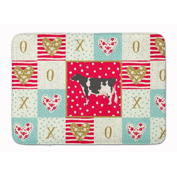 Gunnlog Holstein Cow Love Memory Foam Kitchen Mat