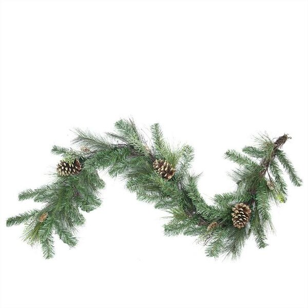 Artificial Mixed Pine with Pine Cones and Glitter Christmas Garland with Unlit by Northlight Seasonal