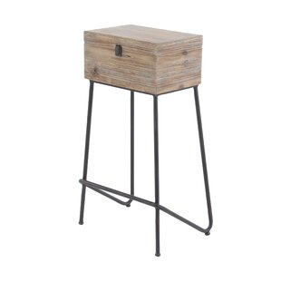 Kail Rustic Wood Box End Table by Union Rustic