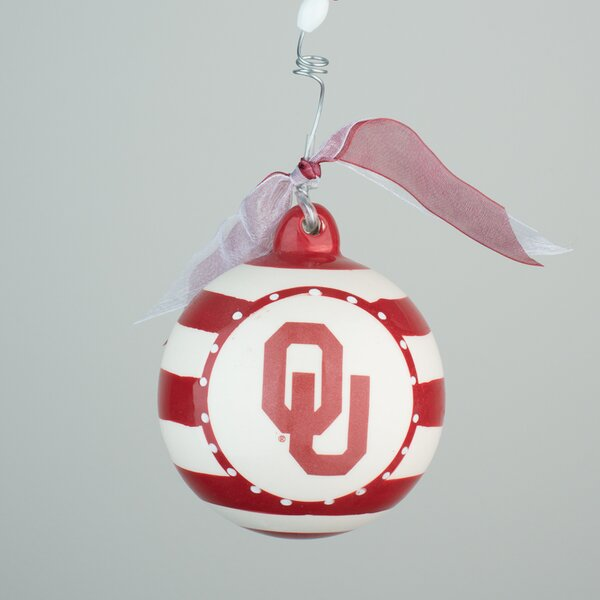 Oklahoma Stripe Ball Ornament by Glory Haus