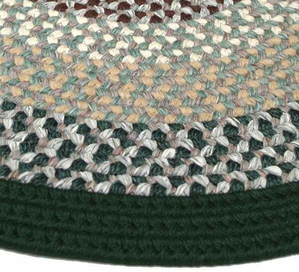 Green Mountain Balsam Fir Green Striped Area Rug by Thorndike Mills