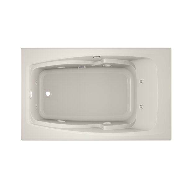 Cetra Left-Hand Heater and Chroma 60 x 36 Drop in Whirlpool Bathtub by Jacuzzi®