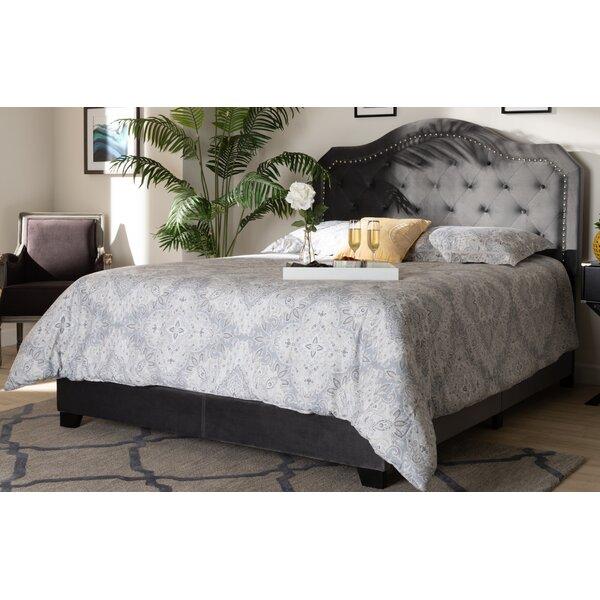 Roby Samantha Velvet Upholstered Standard Bed by Everly Quinn