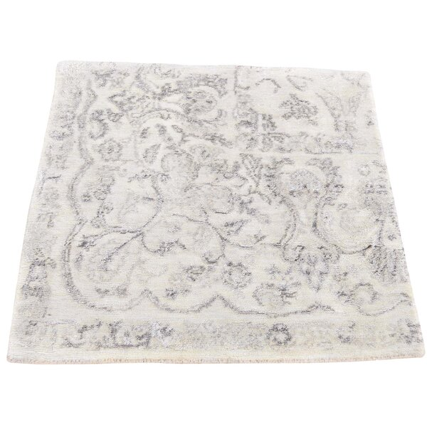 One-Of-A-Kind Vandeusen Broken Hand-Knotted Silk Area Rug By Ophelia & Co..