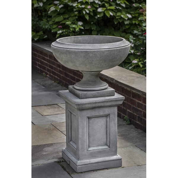 Novelty Pedestal Stone Urn Planter by Campania International