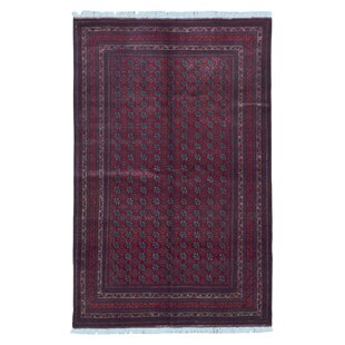 Comparison One-of-a-Kind Esperanza Khal Mohammadi Afghan Hand-Woven Wool Rectangle Red Area Rug By Isabelline