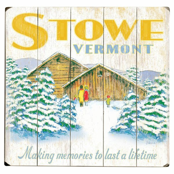 Stowe Vermont Drawing Print Multi-Piece Image on Wood by Artehouse LLC