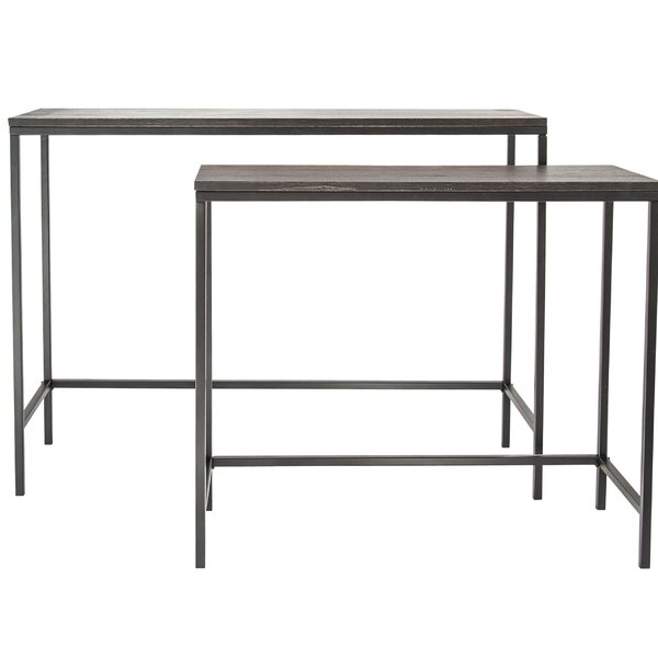Swinehart Wood and Metal 2 Piece Console Table Set by Williston Forge