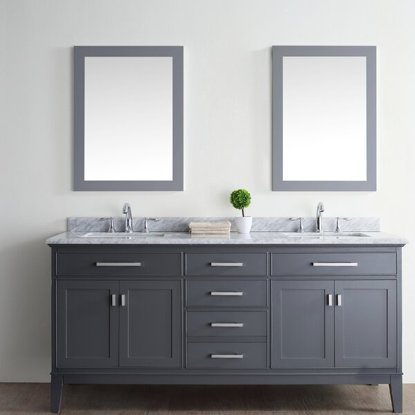Arminta 72 Double Bathroom Vanity Set by Charlton Home