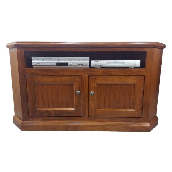 Bolesworth Solid Wood Corner TV Stand For TVs Up To 50