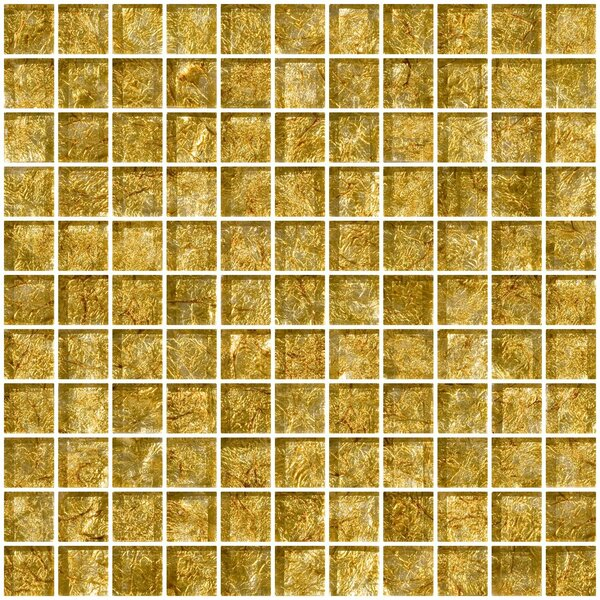 1 x 1 Glass Mosaic Tile in Golden Opal by Susan Jablon