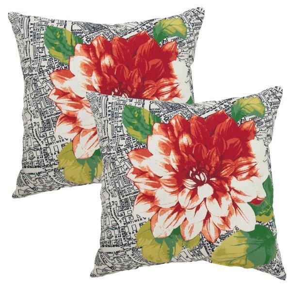 Beltz Dahlia Outdoor Throw Pillow (Set of 2) by Latitude Run