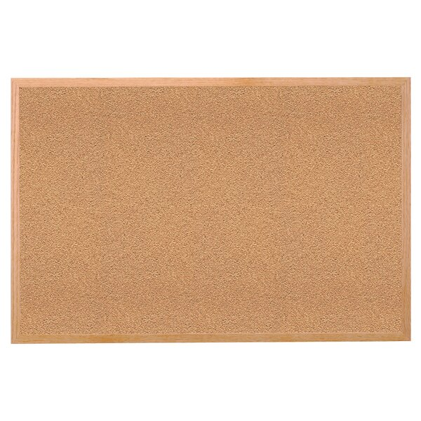 Ghent Natural Cork Bulletin Board with Wood Frame by Ghent
